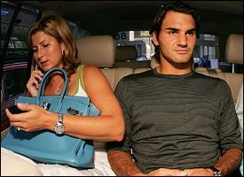 Mirka Vavrinec and Roger Federer