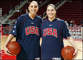 Diana Taurasi and Sue Bird