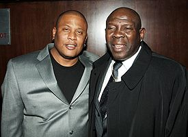 Benny Paret Jr., left, and Emile Griffith