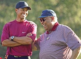 Tiger Woods and Earl Woods