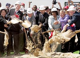 Stadium groundbreaking.
