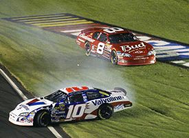 Dale Earnhardt Jr, top, and Scott Riggs.