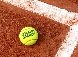An official French Open tennis ball