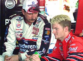 Dale Earnhardt Sr. and Dale Earnhardt Jr.