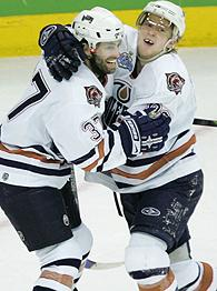 Michael Peca and Ales Hemsky