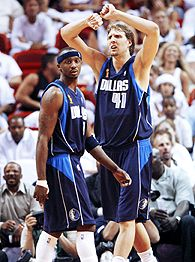 Jason Terry and Dirk Nowitzki