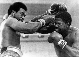 Ron Lyle, right, and George Foreman