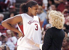 Courtney Paris and Sherri Coale