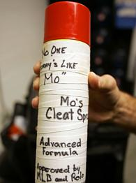 Moises Alou's cleat spray