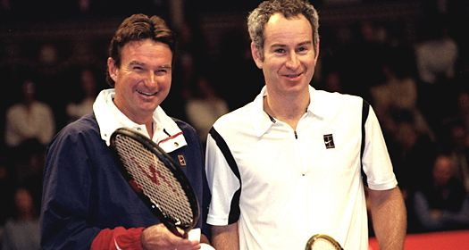 Jimmy Connors and John McEnroe