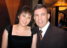 Brianna Macaluso and Teddy Atlas