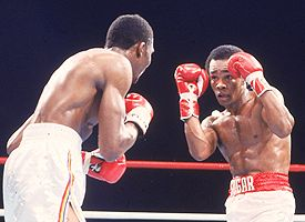 Sugar Ray Leonard and Thomas Hearns