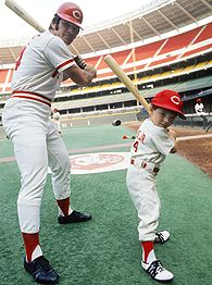 Pete Rose and Pete Rose Jr.