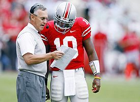 Jim Tressel and Troy Smith