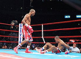 Bernard Hopkins and Felix Trinidad