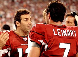Matt Leinart and Kurt Warner
