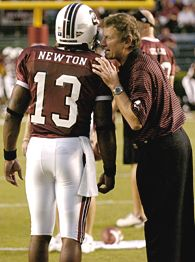 Steve Spurrier and Syvelle Newton