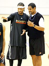 Allen Iverson and Maurice Cheeks
