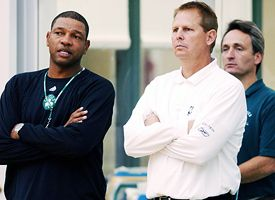 (L-R) Doc Rivers and Danny Ainge