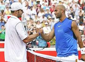 James Blake, right, Andy Roddick