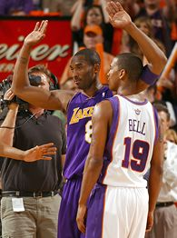 Raja Bell and Kobe Bryant