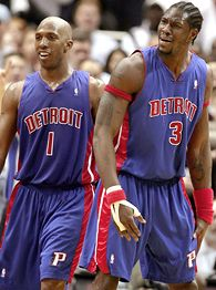 Chauncey Billups and Ben Wallace