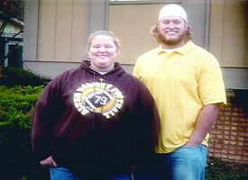 Holley and Nick Mangold