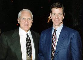 Bill Walsh, left, and Ivan Maisel