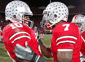 Troy Smith and Ted Ginn jr