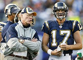 Marty Schottenheimer and Philip Rivers
