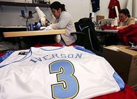 Allen Iverson Nuggets Jersey