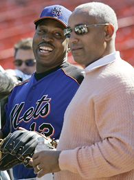 Omar Minaya and Willie Randolph