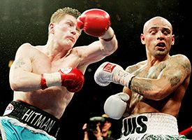 Ricky Hatton, left, and Luis Collazo
