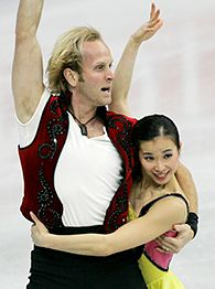 Rena Inoue, right, and John Baldwin