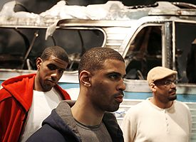 LaMarcus Aldridge, Ime Udoka and Antonio Harvey