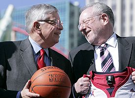 David Stern and Mayor Oscar Goodman