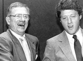 Frank Broyles and Bill Clinton