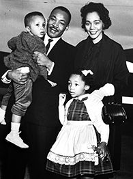 Dr. Martin Luther King Jr. andf family