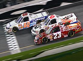 Jack Sprague (60), Johnny Benson (23), and Travis Kvapil (6)
