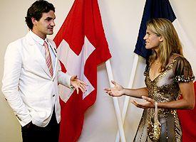 Roger Federer and Amelie Mauresmo