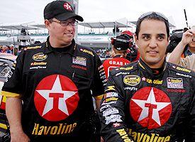 Juan Pablo Montoya and Brad Parrott