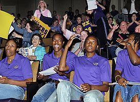 LSU women's basketball players