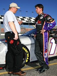 Denny Hamlin and Mike Ford