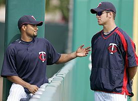 Johan Santana and Joe Mauer