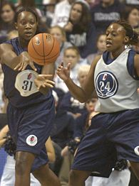 Tina Charles and Charde Houston