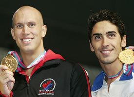 Filippo Magnini and Brent Hayden