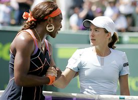 Serena Williams and Justine Henin