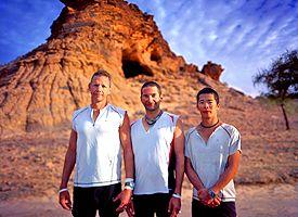 Charlie Engle, Ray Zahab, and Kevin Lin