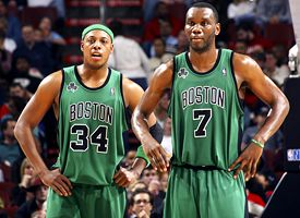 Al Jefferson and Paul Pierce