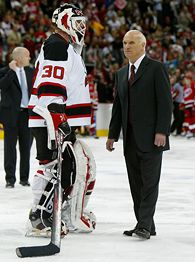 Martin Brodeur and Lou Lamoriello